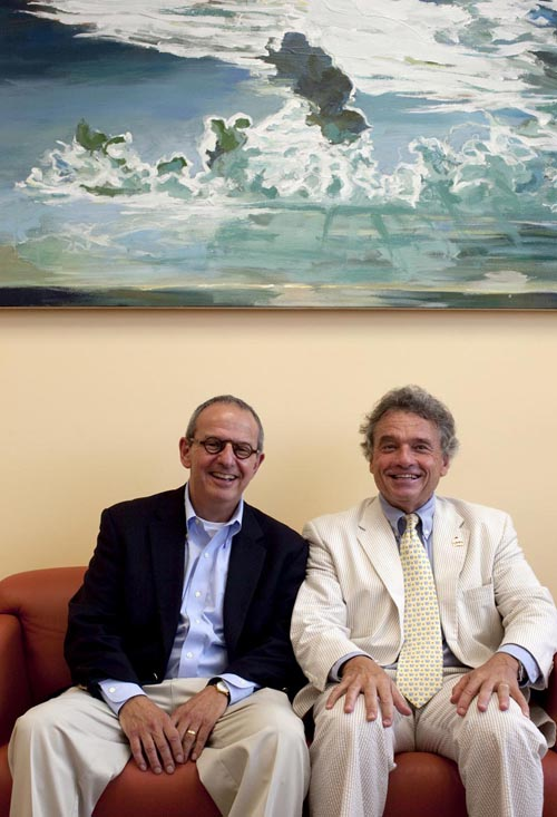 Dennis Steindler, Ph.D., Professor and Executive Director UF McKnight Brain Institute, and Mark Gold, M.D., Professor and Chair, UF Department of Psychiatry